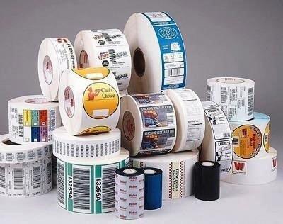 Etiquetas para embalagens plasticas
