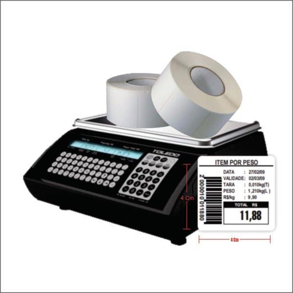 Etiquetas térmicas para balança