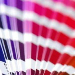 Etiquetas coloridas adesivas