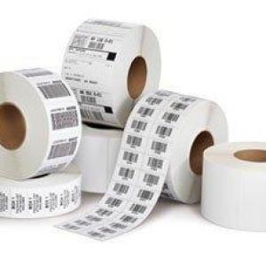 Etiquetas para impressão de código de barras